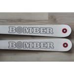 00129 Original BOMBER Ski Pro Carve White,  L166cm, R16m