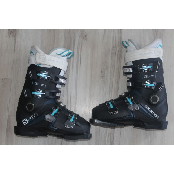 807 SALOMON X PRO, 24- 24,5, UK 5.5- 6, EU 38- 39, 284mm, flex 80